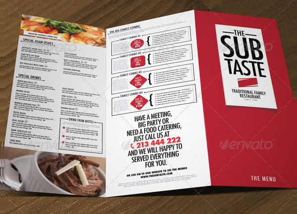 Popular Restaurant Menu Template