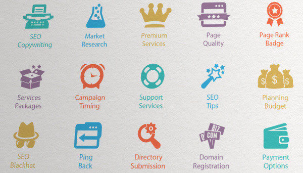 Web Marketing Services Icons Download