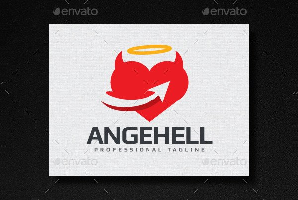 Modern Angel Hell Logo
