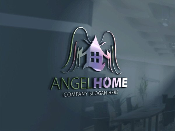 Angel Home Logo Template