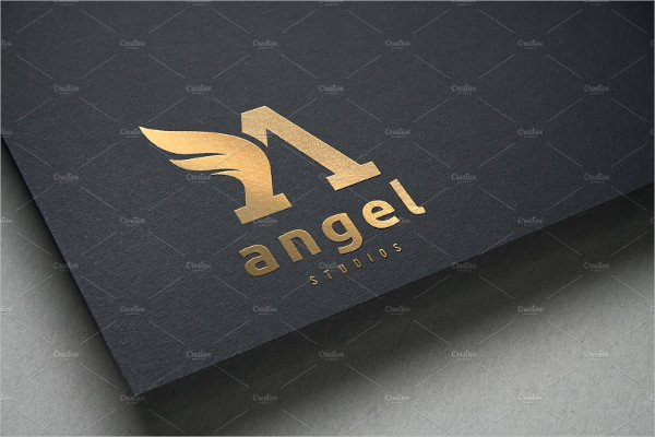 Angel Logo Letter A Logo Template