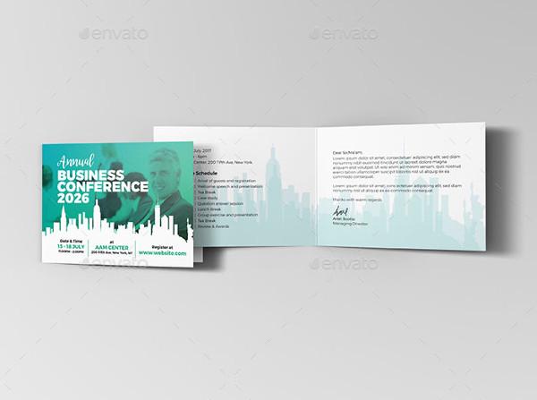 Annual Business Invitation Card Template