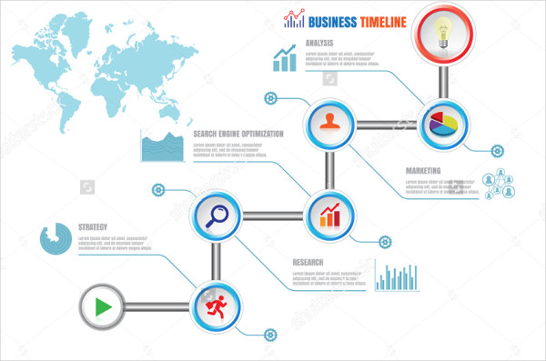 Creative Business Timeline Infographic Design Template