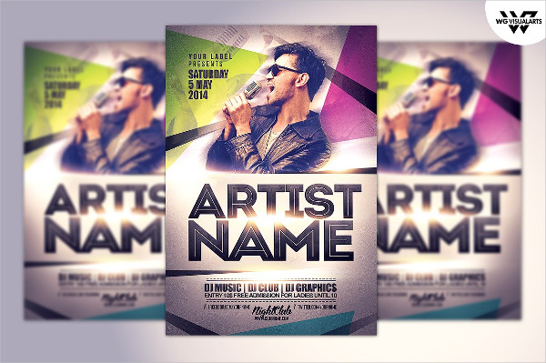 Artist & DJ Flyer Template