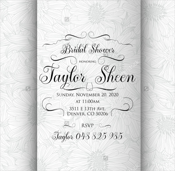 Artistic Bridal Shower Invitation Card