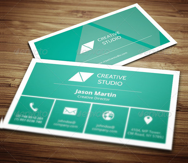 Creative Director Metro Style Business Card Template