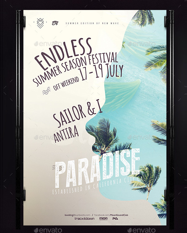 Attractive Summer Festival Poster Template