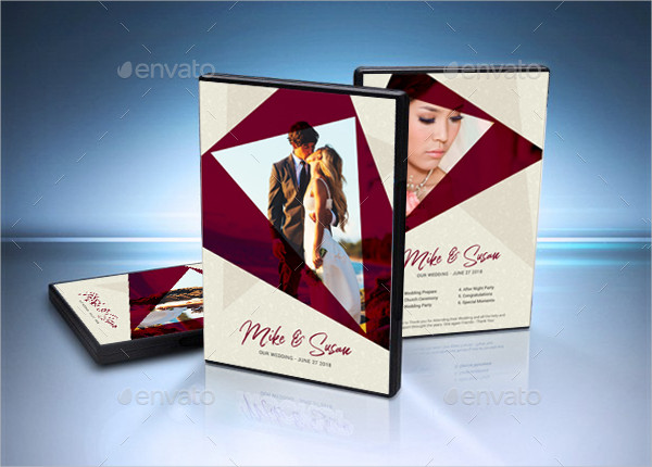 Attractive Wedding DVD Cover Template
