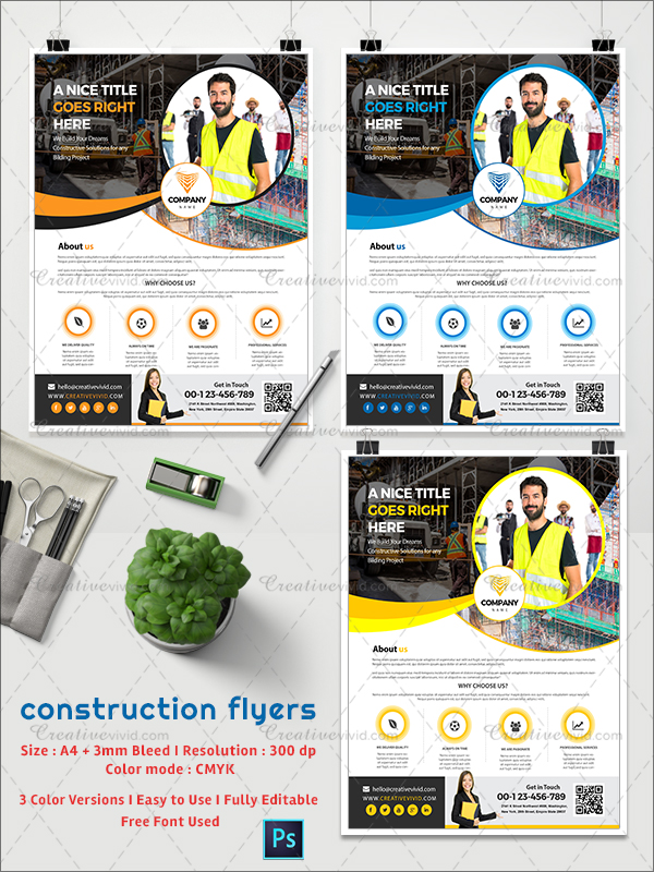 Flyers for Construction Company