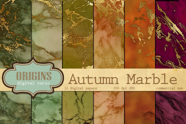 Autumn Marble Textures
