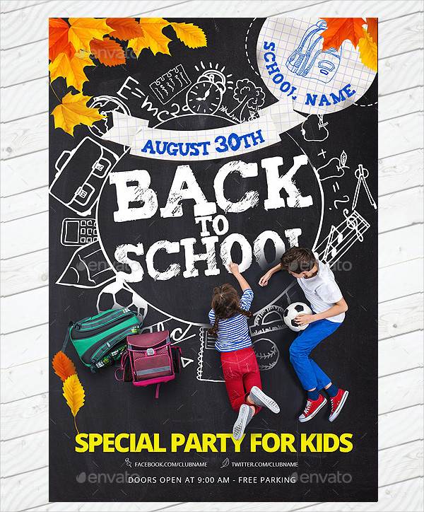 School Special Party Flyer Template
