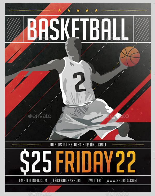 Basketball Advertising Poster Template
