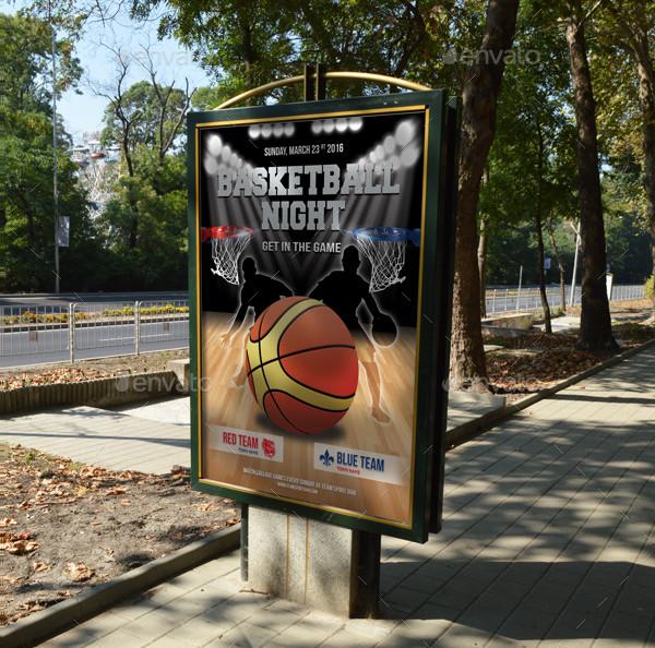 Basketball Game Poster Template