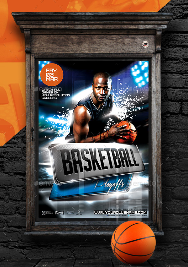 Unique Basketball Playoffs Poster Template