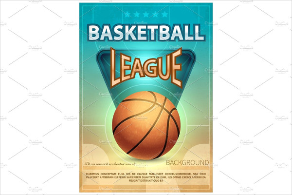 Basketball Tournament Sports Vector Poster