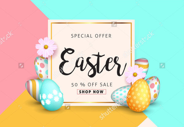 Beautiful Easter Sale Banner Background
