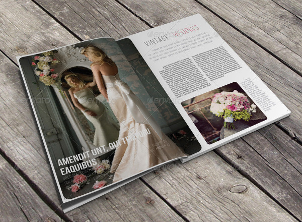 Beautiful Wedding Magazine Template