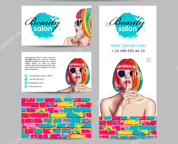 Colorful Beauty Salon Banner & Business Card Template