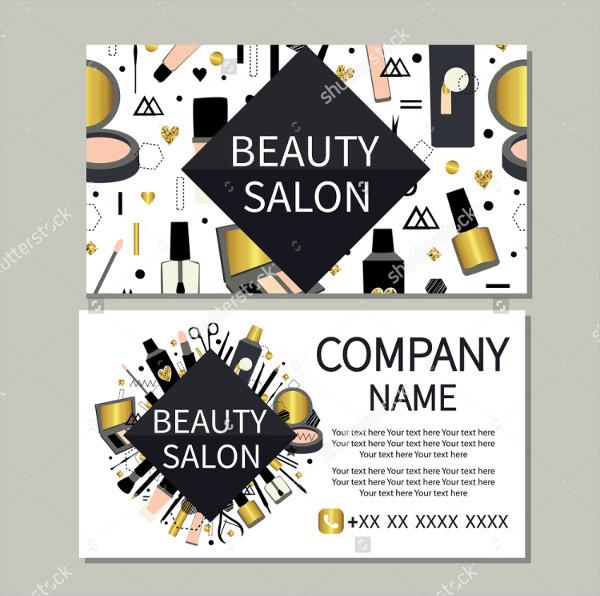 Cute Design Beauty Salon Business Card Template