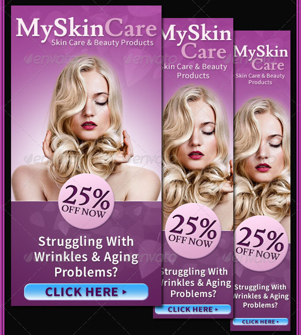 Beauty & Skin Care Banner Ads