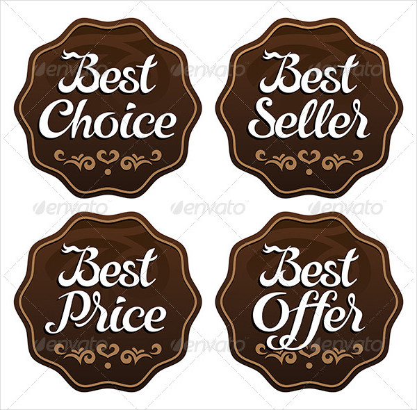 Best Seller Choice Price Offer Labels