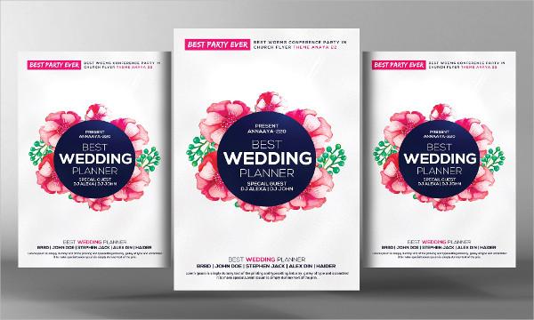 23 wedding planner flyer templates free premium download