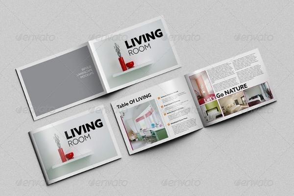 Unique Horizontal Bifold Brochure