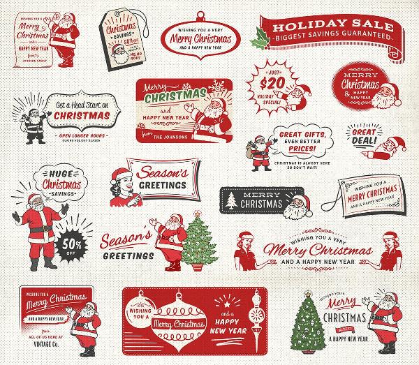 Big Christmas Labels Bundle