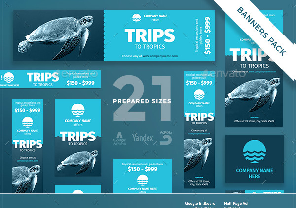 Big Travel Banners Pack