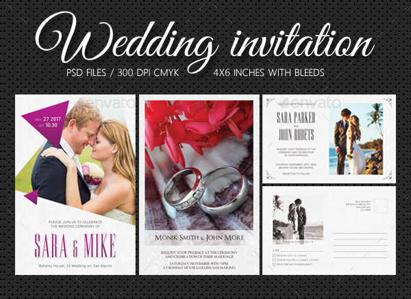 Big Wedding Invitations Bundle
