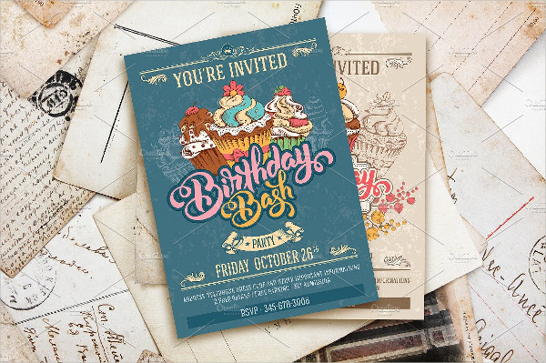 Birthday Bash Cards Template