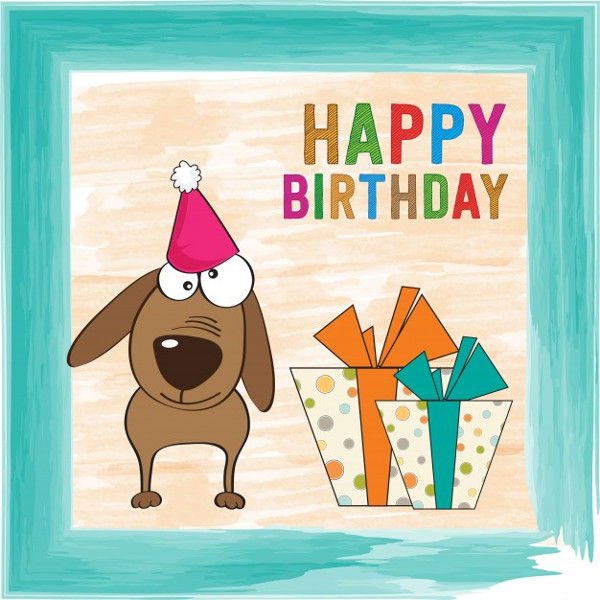 Birthday Card with a Funny Dog Free