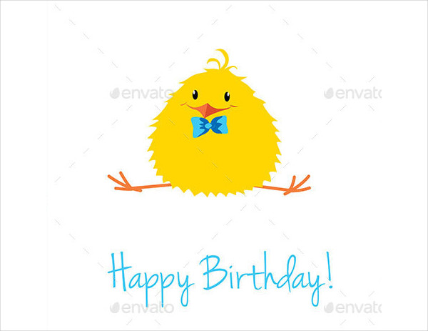 Funny Cartoon Birthday Cards Set