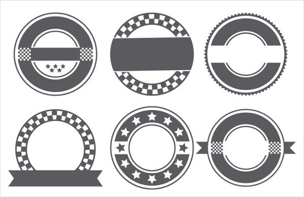 Blank Retro Badge Shapes Collection Free