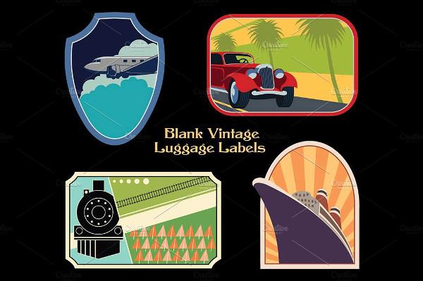 Blank Vintage Luggage Labels