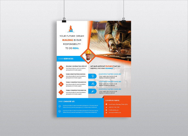 Under Construction Flyers Template
