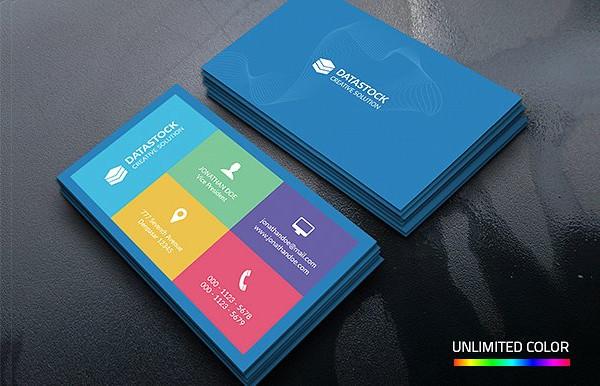Unique Metro Corporate Business Card Template