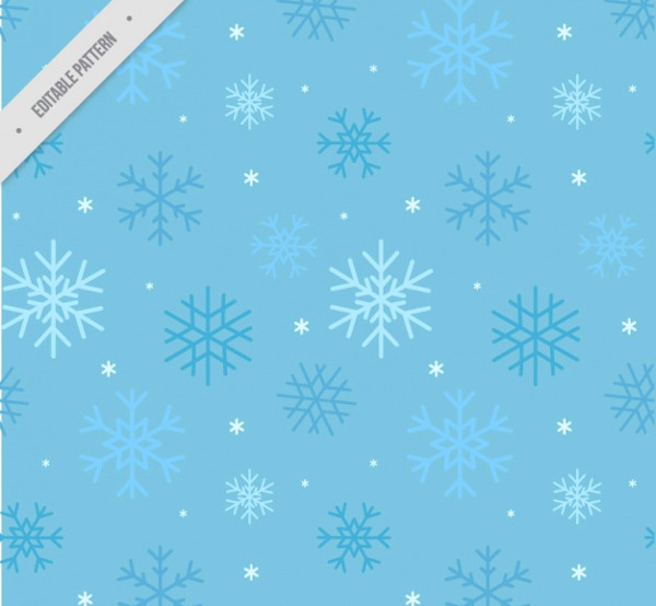 Blue Pattern of Snowflakes Free