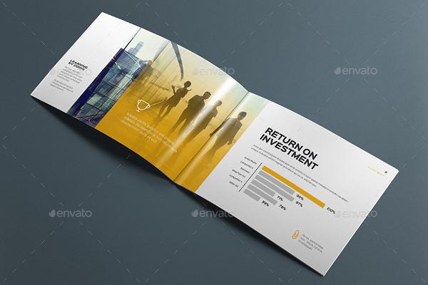 Clean Horizontal Brochure Mockup