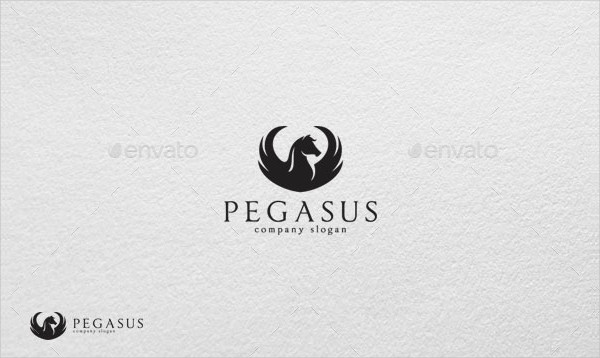 Brand Pegasus Agency Logo Template