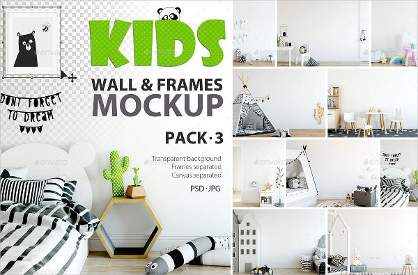 Branding Kids Wall & Frame Mockup Pack