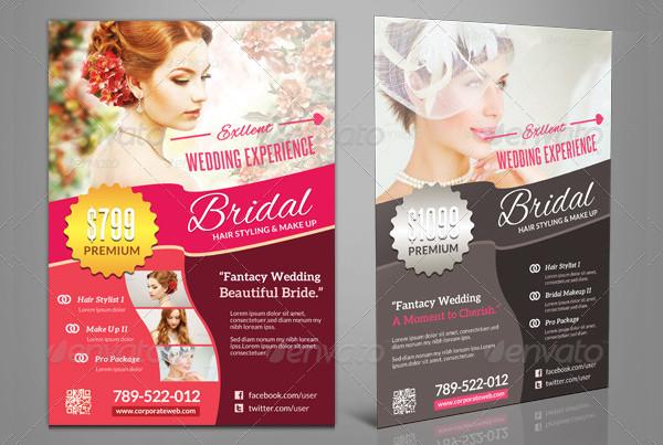 Wedding Bridal Hair Stylist Flyer Template