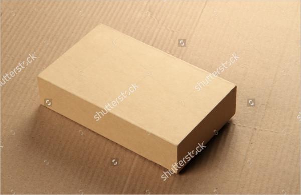 Blank Card Board Package Box Mock Up