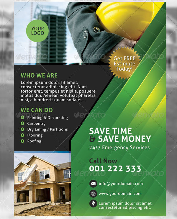 Building Construction Services Flyer Template