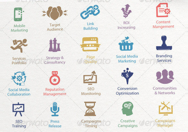 Landing Page Optimization Icons Collection