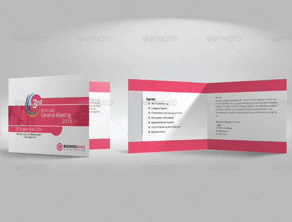Business Annual Meeting Invitation Card