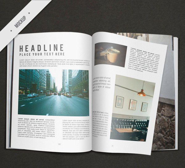 Free Business Magazine Mock-up Download