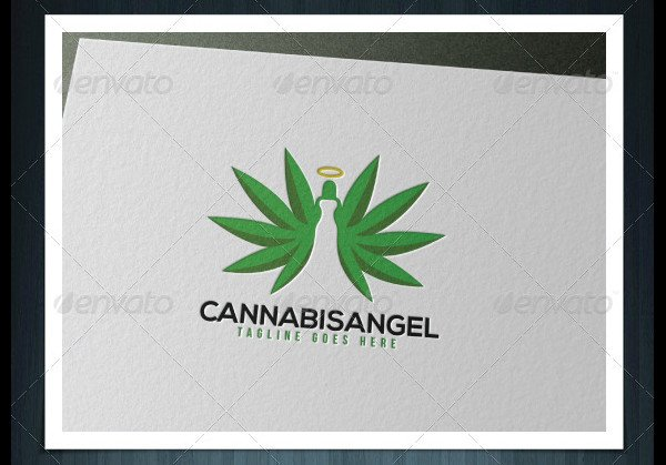 Cannabis Angel Logo Template