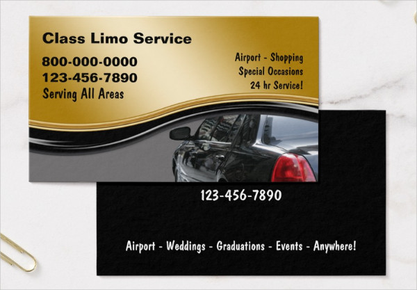 Car Hire Business Card Template