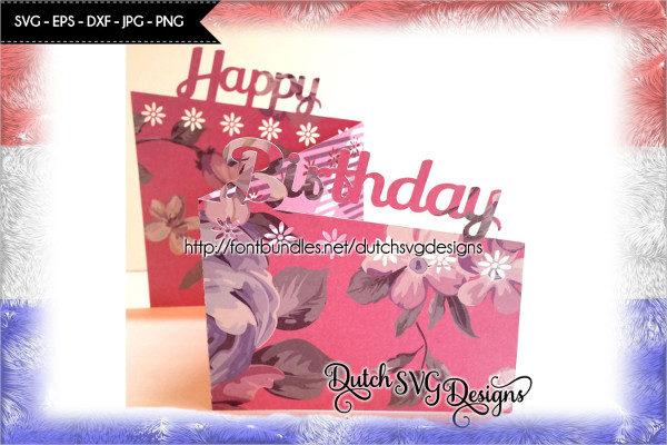 Card Cutting File Happy Birthday